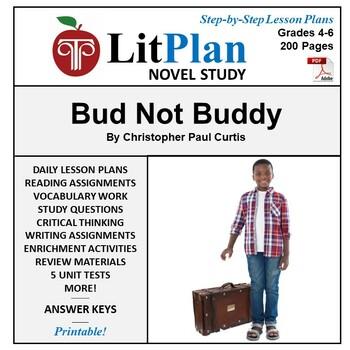 LitPlan Teacher Guide: Bud Not Buddy - Lesson Plans, Questions, Tests
