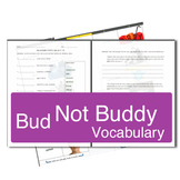 Bud Not Buddy Literature Book Vocabulary Guide with HOT Questions