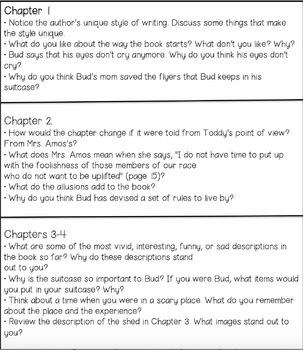 Bud, Not Buddy Literature Circle Guide