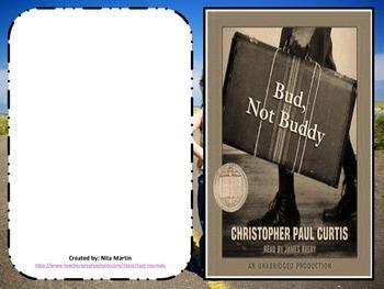 Bud, Not Buddy Literature Study Journal