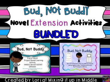 Bud, Not Buddy Novel Extension Activities BUNDLED