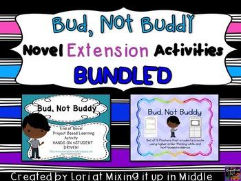 Bud, Not Buddy Novel Extension Activities BUNDLED