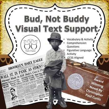 Bud, Not Buddy Novel Study Visual Vocab.  Activities Questions Art Project