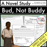 Bud, Not Buddy Novel Study Unit Distance Learning