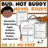 Bud Not Buddy Novel Study with graphic organizers and writing prompts
