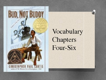 Bud, Not Buddy PowerPoint for chapters 4-6