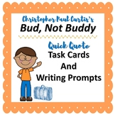 Bud, Not Buddy Quick Quote Task Cards and Writing Prompts