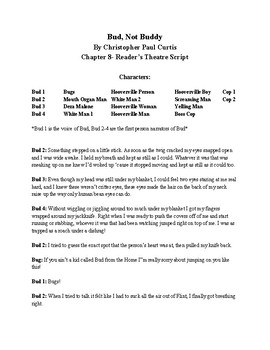 Bud, Not Buddy Reader's Theater- Chapter 8