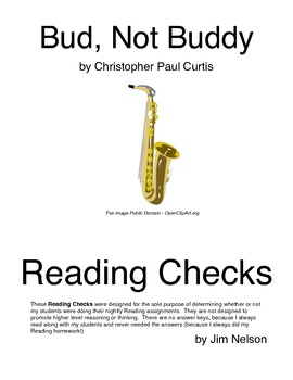 Bud, Not Buddy Reading Check Questions