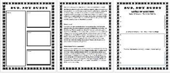 Bud, Not Buddy: Reading Comprehension Printables