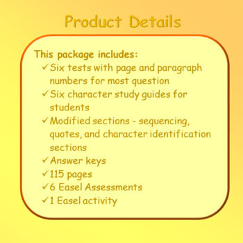 Bud, Not Buddy Reading Comprehension Tests ~ Check out my FREE SAMPLE