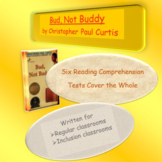 Bud, Not Buddy Reading Comprehension Tests ~ Regular & Modified