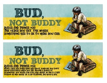 Bud Not Buddy Rules to Display