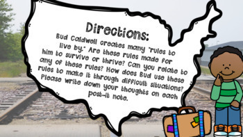 Bud, Not Buddy: Rules and Things to Live By Student Response Booklet