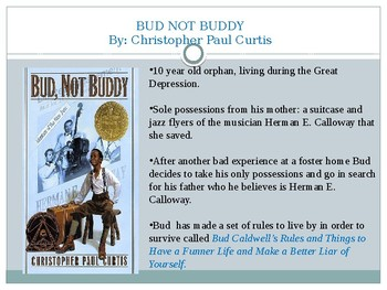 Bud Not Buddy Rules to live by PPT