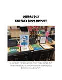 Fantasy Book Club Cereal Box
