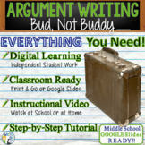 Bud, Not Buddy | Citing Text Evidence Argument Essay Writing | Print and Digital