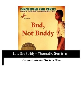 Socratic Seminar - Bud, Not Buddy - Common Core Aligned