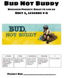 Bud Not Buddy Unit 3 Presentation Slides & Worksheet Engag