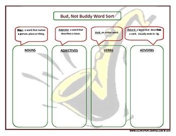 Bud, Not Buddy Vocabulary Activities