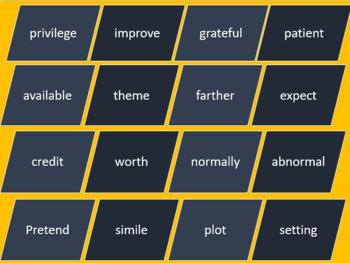 Bud Not Buddy Workshop 3 Read 180 Vocabulary PowePoint