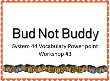Bud Not Buddy Workshop 3 Read 180 Vocabulary PowerPoint