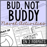 BUD NOT BUDDY Novel Study Unit Activities | Creative Book Report