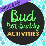 Bud Not Buddy by Christopher Novel Unit Study Activities,