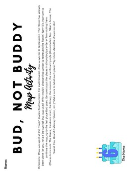 Bud, Not Buddy by Christopher Paul Curtis Review Sheet and Symbol Map Activity