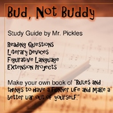 Bud, Not Buddy lesson plans, study guide and reading questions