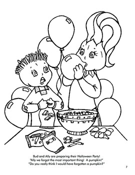 Bud and Ally's Halloween Coloring and Activity pages