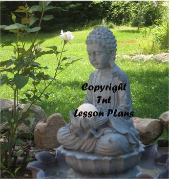 Buddha Serenity Fountain Stock Image