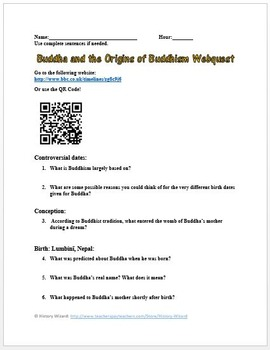 Buddha and the Origins of Buddhism Webquest