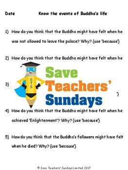 Buddha's Life Lesson plan, PowerPoint and Activities