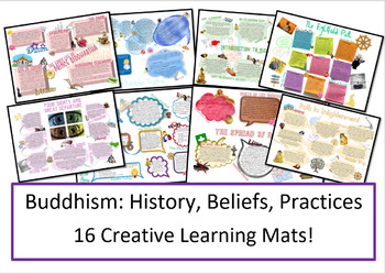 Buddhism: 16 Learning Mats for Beliefs, Teachings and Practices