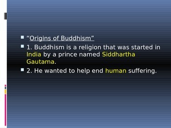 Buddhism, Ancient Indian Leaders and Accomplishments PowerPoint