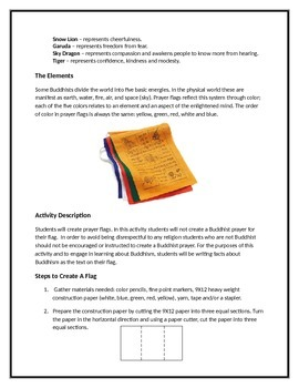 Buddhism Art Activity for Students