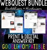 Buddhism & Hinduism WebQuest BUNDLE