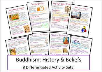 Buddhism: History and Beliefs Activities / Worksheets