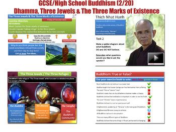 Buddhism - Lesson 2/20 [Dhamma, Three Jewels, Three Marks
