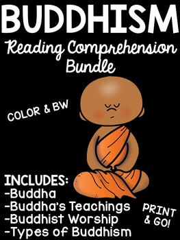 Buddhism Reading Comprehension Worksheet Bundle Buddhist Buddha