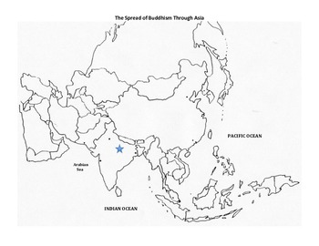 Buddhism - Spread of Buddhism Map Activity
