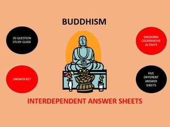 Buddhism:  Interdependent Answer Sheets Activity