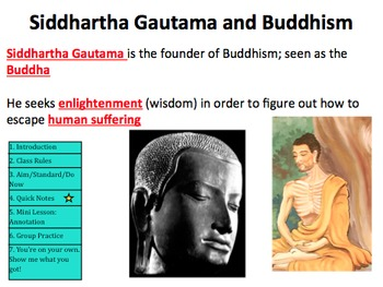 Buddhism and Annotation Powerpoint