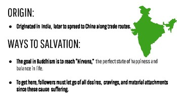 Buddhism and Hinduism Visual PowerPoint