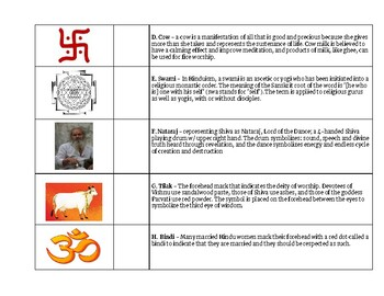 Hinduism - Symbol Matching by Past and Poetry   Teachers Pay