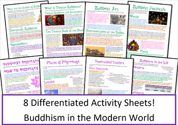 Buddhism in the Modern World - Activities / Worksheets