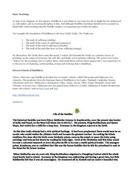 Buddhism information