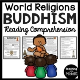 Buddhism Overview Reading Comprehension Worksheet for World Religions
