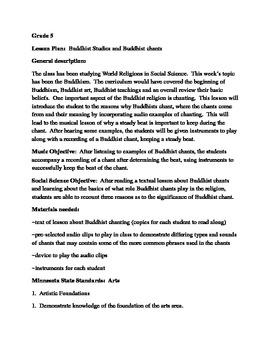 Buddhist Studies and Buddhist chants
